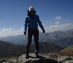 On the top of Mt. Belford, a Colorado 14er. The day included 6,000 feet of elevation gain and more than 9 miles of high altitude hiking.